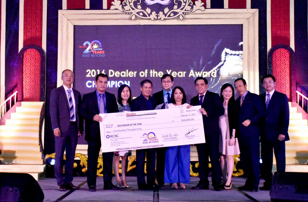 Isuzu Philippines fetes top-performing dealers