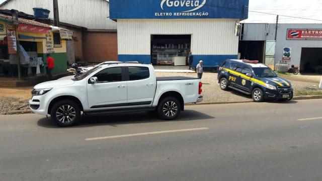 Caminhonete furtada em Ji-Paraná é recuperada em Jaru após ser bloqueada por sistema de rastreamento