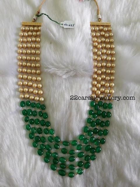 Emerald Beads and Pearls Haram