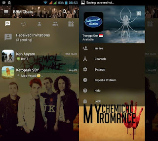 BBM Mod My Chemical Romance v3.0.1.25 Apk