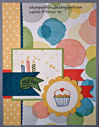stampwithtrude.blogspot.com Stampin' Up! Birthday card by Trude Thoman Another Great Year stamp set