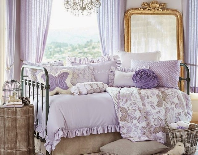 dormitorio infantil color lila