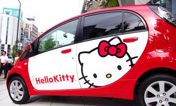Coche de Hello Kitty