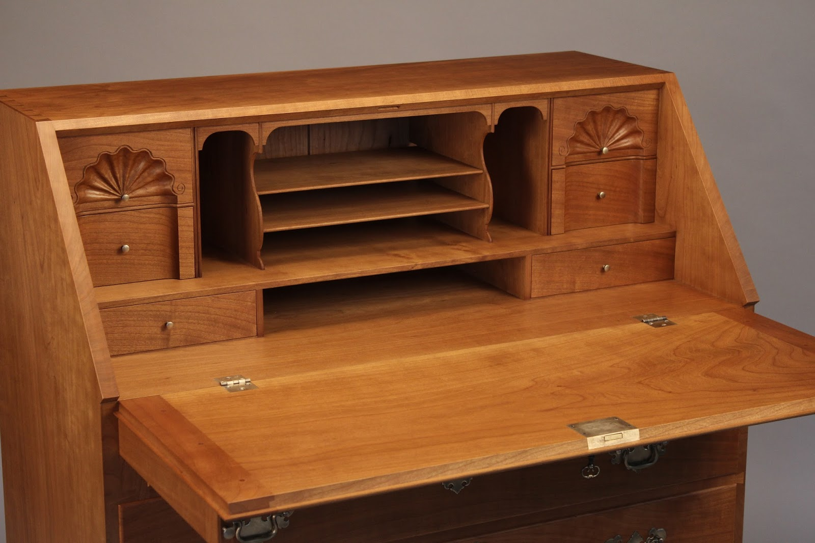 carved shells Newport Style desk