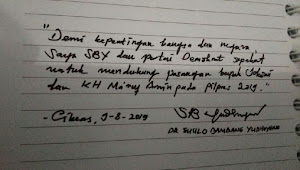 PD: Tulisan Tangan SBY Dukung Jokowi-Ma'ruf Hoax