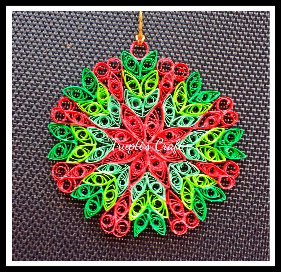 Quilling Home Decor Truptis Craft Paper Quilling Ornament Or Car Hanging Or Wall