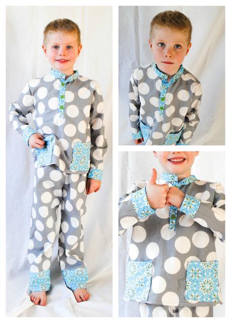 Pocket Pajamas sewing pattern by Blank Slate Patterns sewn by Boy, Oh Boy, Oh Boy