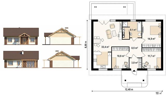 каркасный дом проекты и цены под ключ