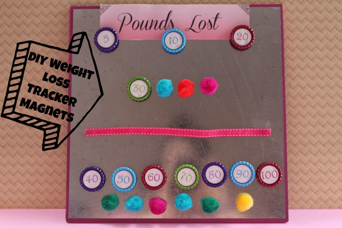 DIY Weight Loss Tracker Magnets - First Time Mom and Losing It
