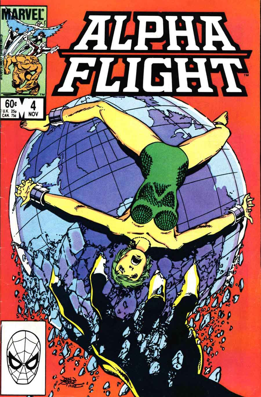 Alpha Flight v1 #4 marvel comic book cover art by John Byrne