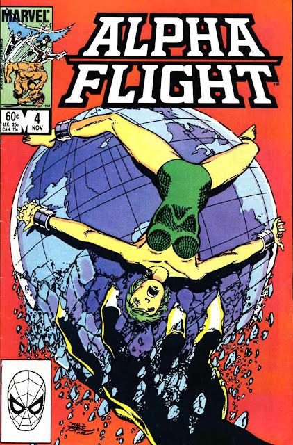 Alpha Flight v1 #4 marvel comic book cover art by John Byrne