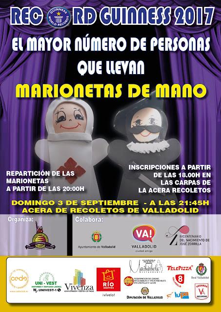 Cartel del Record Guinness de Las Fiestas y Fiestas Valladolid 2017 de la Virgen de San Lorenzo