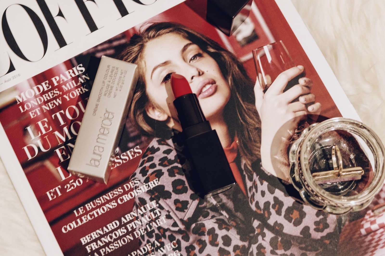 laura mercier, rouge à lèvre laura mercie, portobello red, blog mode, blogueuse mode, blogueuse lyonnaise, beauté, laura mercier blogueuse, rouge à lèvre, l'officiel paris, magazine l'officiel