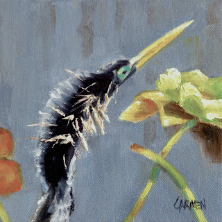 anhinga+in+everglades+oil+painting