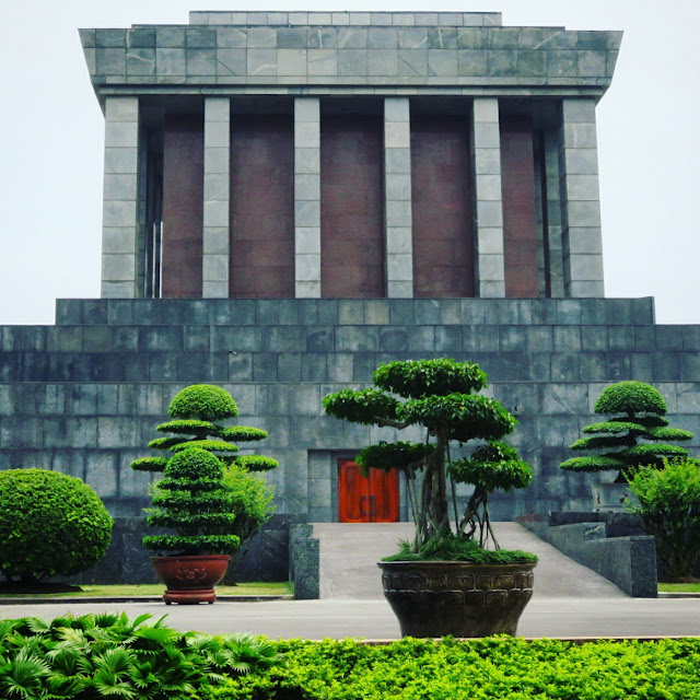 Ho Chi Minh Masoleum in Hanoi Vietnam