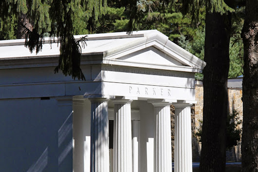 Classical Architecture in the Cemetery - Greek Columns