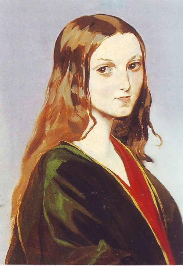 Гагарин Григорий Григорьевич (1810-1893) Портрет девушки-грузинки www.womanpaint.blogspot.ru