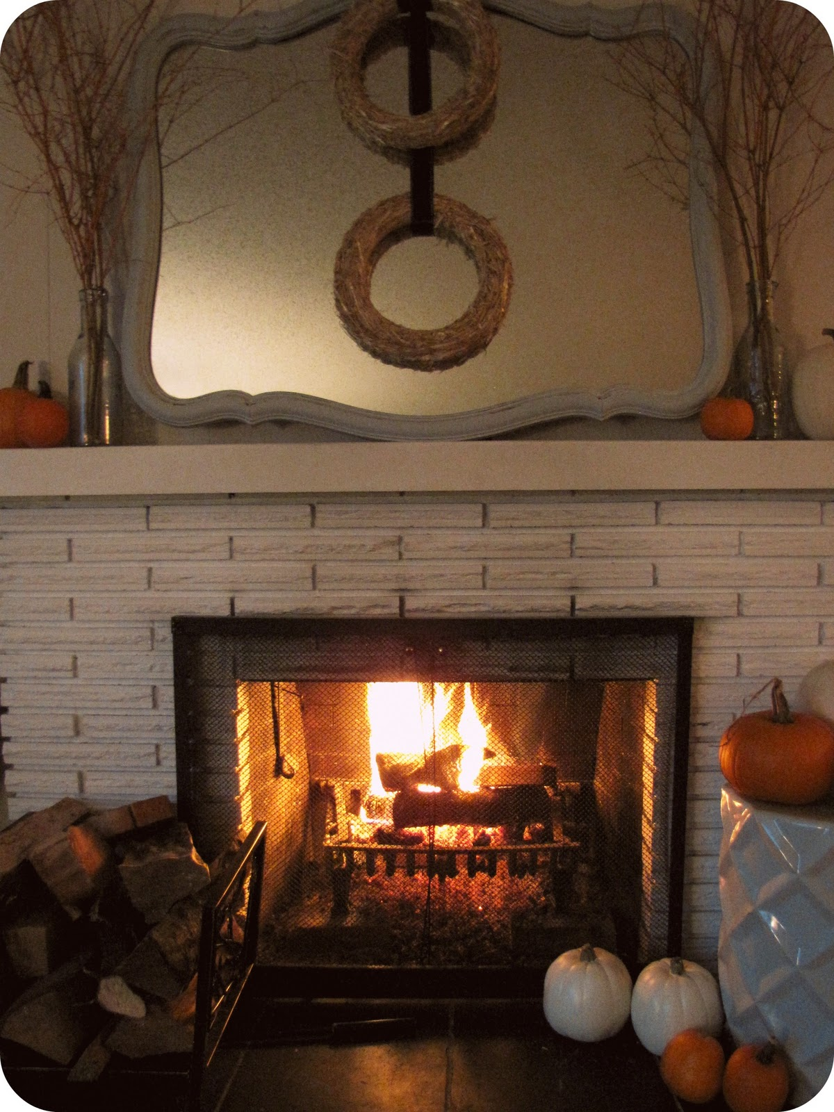Fall Fireplace Mantel Decorating Ideas: My House Of Giggles: Fall Mantel .... Two Little Straw