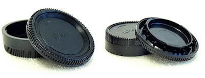 Nikon F-Mount Body and Rear Lens Cap Pair