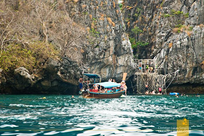 Koh Phi Phi Boat Tour Maya Bay Rope Ladder