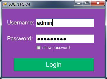 vb.net inventory system - login form