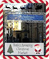 Entrance to Bath Christmas Market with title text