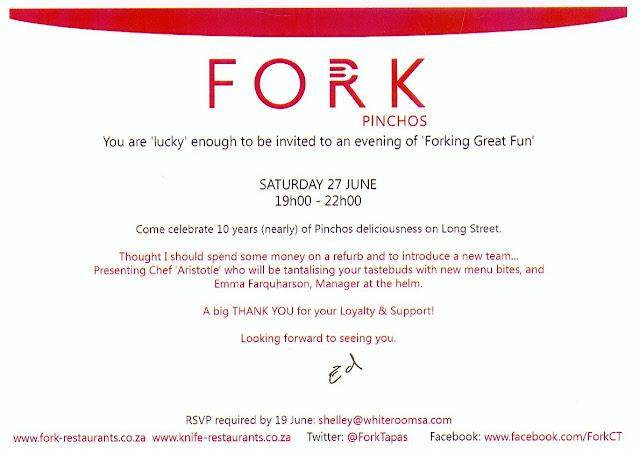 Fork%2Binvitation Fork Restaurants refurb party