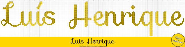 Nome Luís Henrique em Ponto Cruz