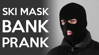 Back Bank Robber Mask
