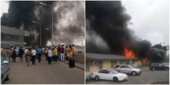 Fire razes FAAN headquarters  in Lagos
