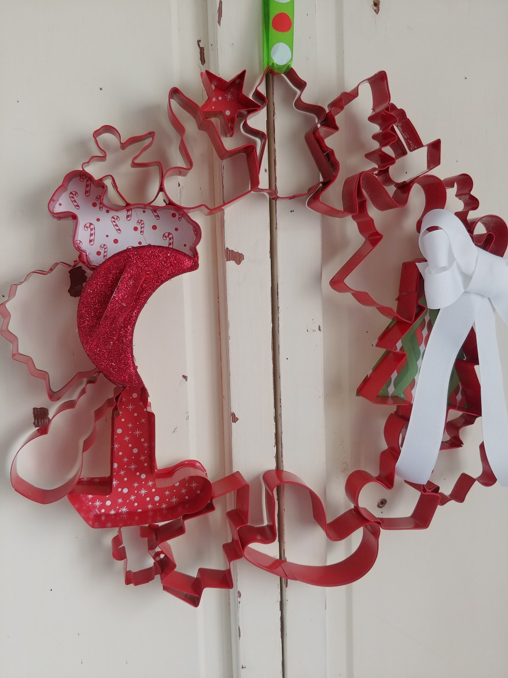 wreath made from cookie cutters