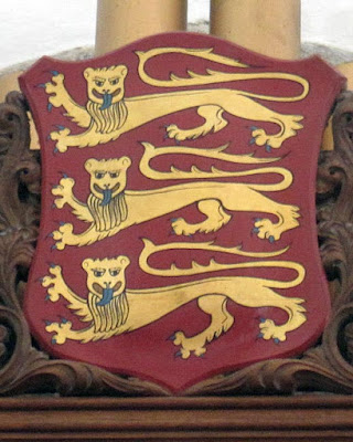 Coat of Arms of Jersey in the Parish Church of Saint Helier, detail