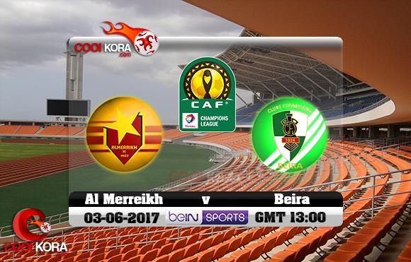 مشاهدة مباراة فيروفيارو دا بيرا والمريخ اليوم 3-6-2017 دوري أبطال أفريقيا