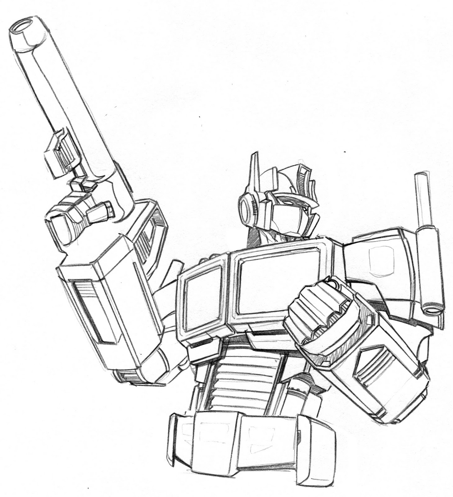 how to draw optimus prime page 2