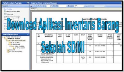 Download Aplikasi Inventaris Barang Sekolah SD/MI