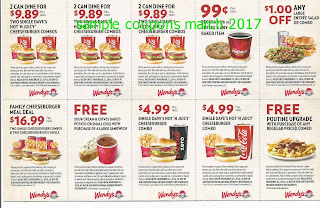 Wendys coupons for march 2017