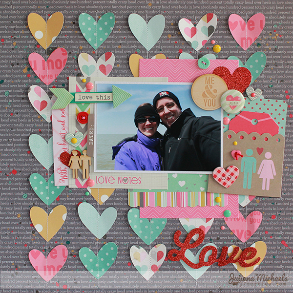 Love Scrapbook Page by Juliana Michaels featuring Elle's Studio and Gossamer Blue