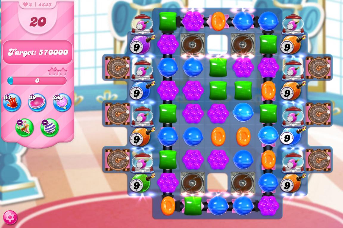 Candy Crush Saga level 4843