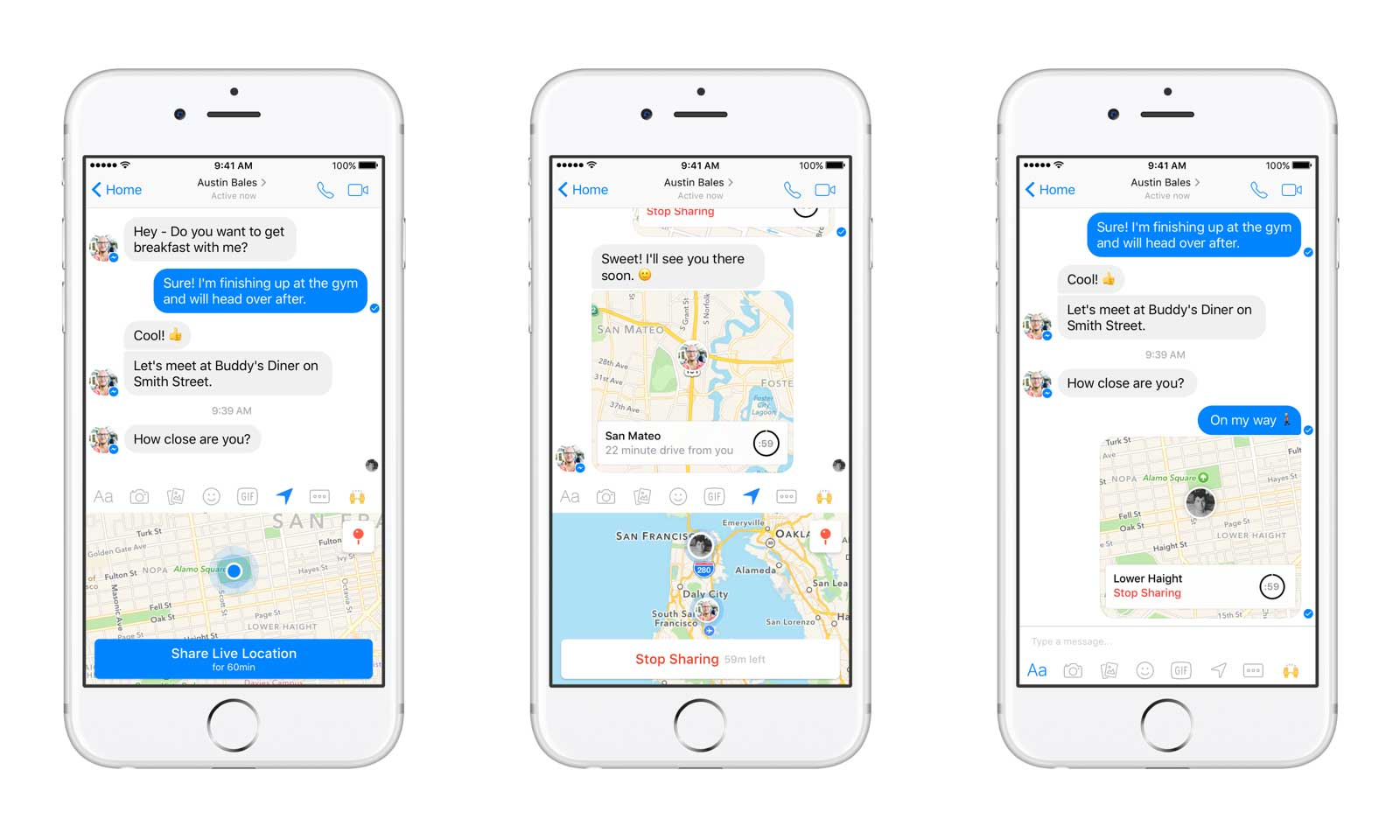 Share Your Real-time Location with Facebook Messenger