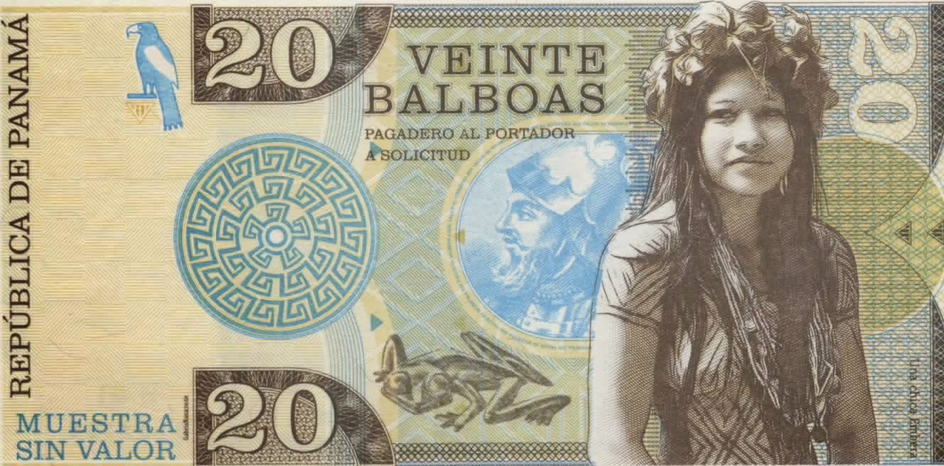 This Is The 20 Balboa Test Note From 2017 Panama Has Been Using Us Dollars So Might Be A Move To Having Their Own Currency