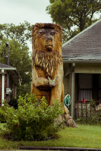A beautiful image of a lion statue