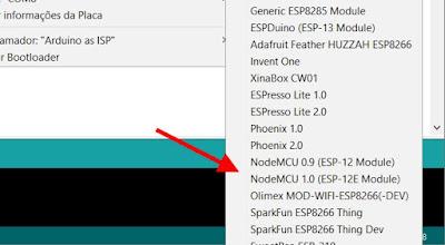 NodeMCU 1.0 Board IDE Arduino