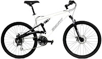 """2017 Gravity FSX 1.0 Dual Full Suspension Mountain Bike, with adjustable front & rear suspension system, 26"""" x 2.1 double wall alloy wheels, 24 speed Shimano shifters, disc brakes, Suntour long travel fork with adjustable preload, Shimano derailleurs and drivetrain"""