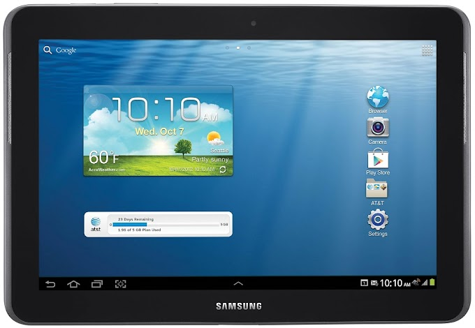 Samsung Galaxy Tab 2 10.1 for AT&T receives Android 4.1 Jelly Bean software update