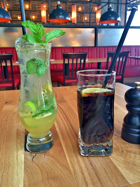 Passion Fruit Ginger Mojito at Burger & Lobster, Kuwait