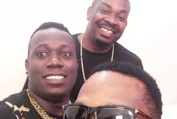Collabo Alert? Don Jazzy And D'Banj Spotted With Duncan Mighty