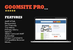 Update: Goomsite Pro AMP HTML v3.00 Responsive Blogger Template - Responsive Blogger Template