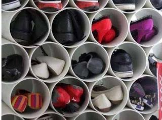 Sepatu Istri Berantakkan, Suami Pergi Ke Toko Bangunan dan Beli Pipa Air. Hasilnya Bikin Mata Melongo