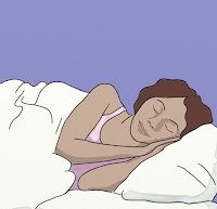 woman sleeping - illustration