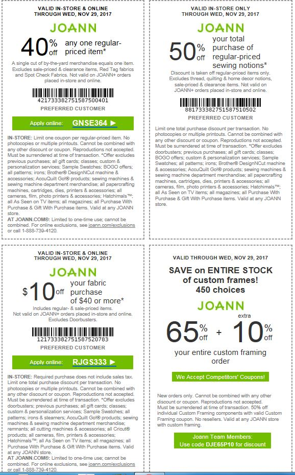 Go Couponing Now: JOANN'S Coupons (LAST DAY) to save Big!!